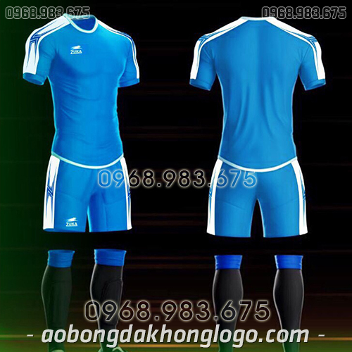 Áo bóng đá ko logo Zuka Basix màu xanh ngọc