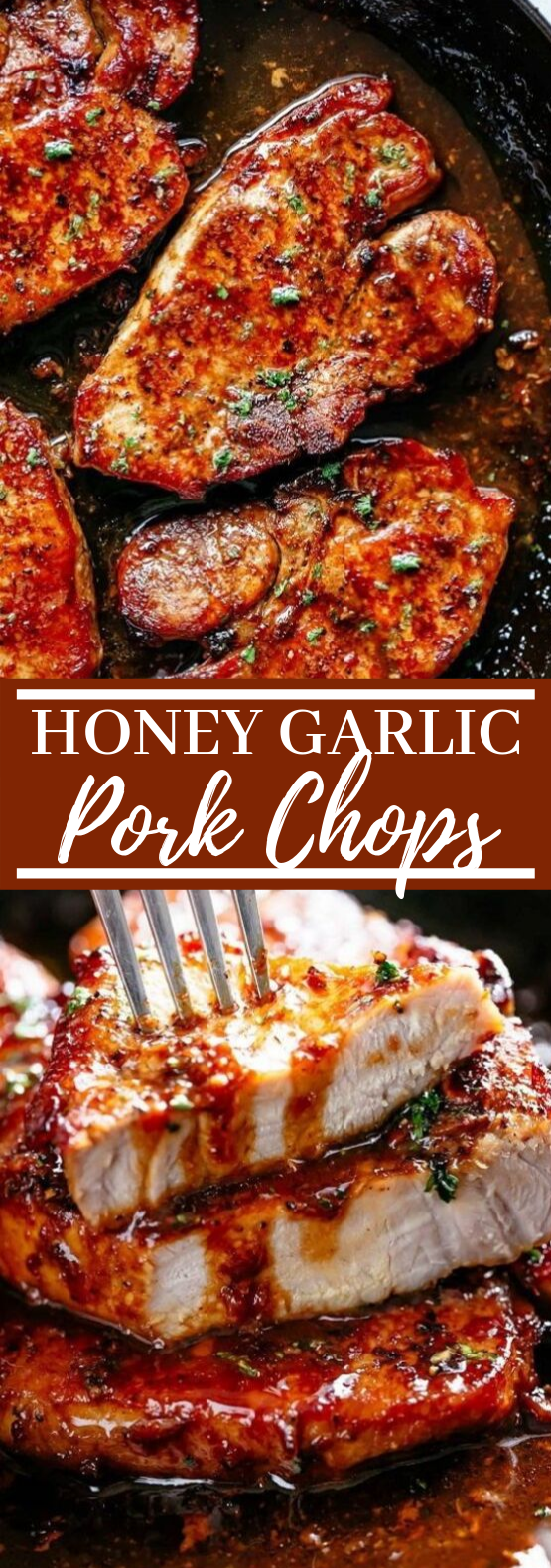 Easy Honey Garlic Pork Chops #dinner #pork