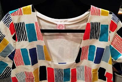 Creates Sew Slow: Kobayashi Squiggle Squares TNT Midi Dress