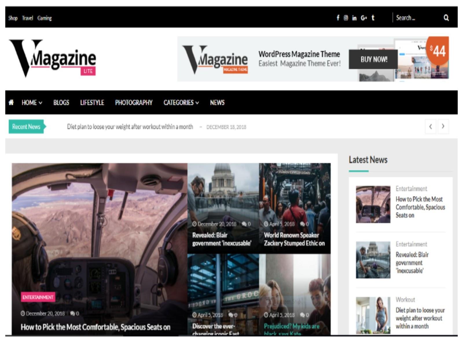 VMagazine Lite WordPress Theme