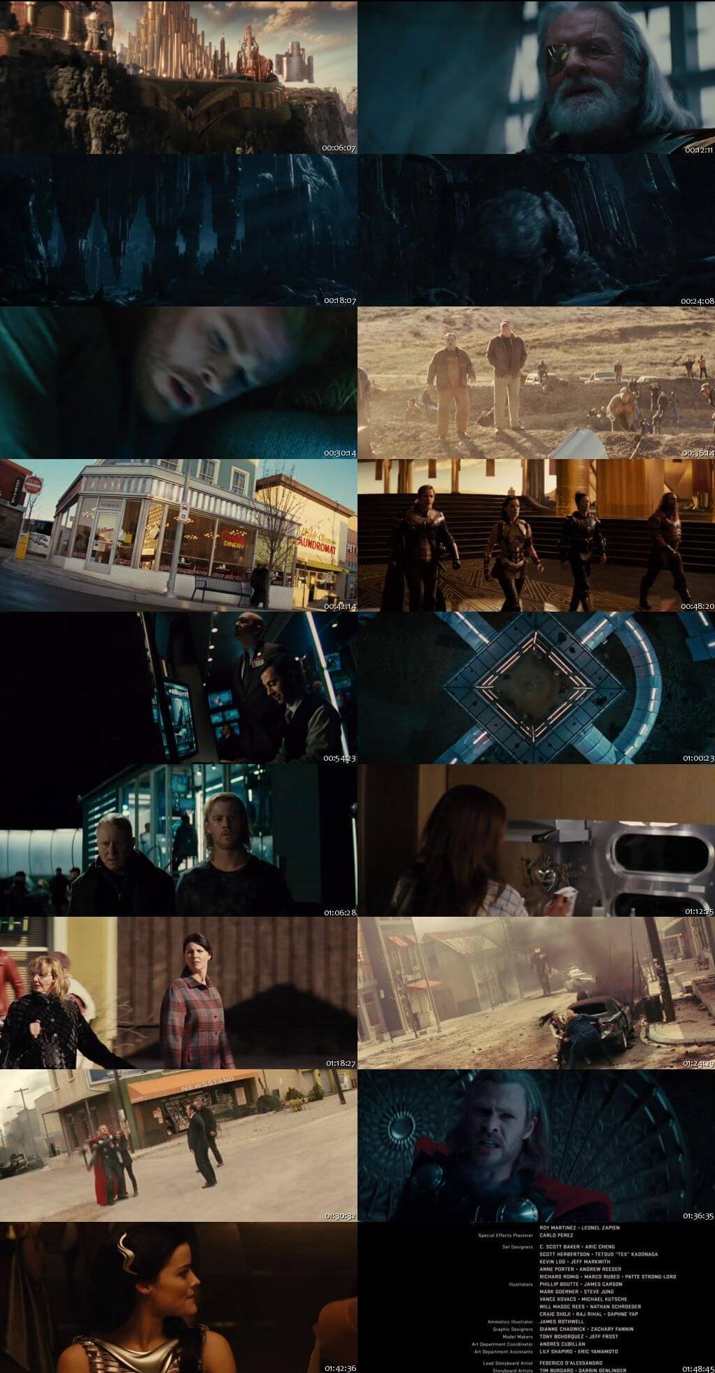 Screen Shot Of Thor 2011 In Hindi English Dual Audio Bluray
