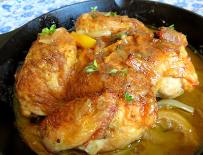 Ina's Skillet Roasted Lemon Chicken