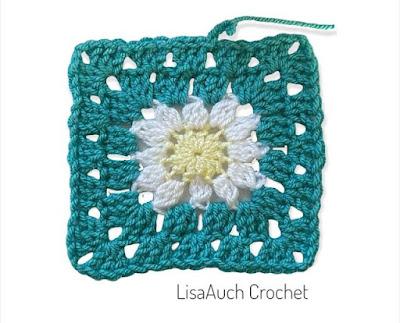 How to crochet a daisy granny square