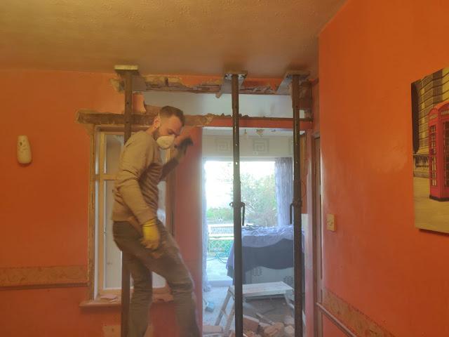 knocking down a load bearing wall