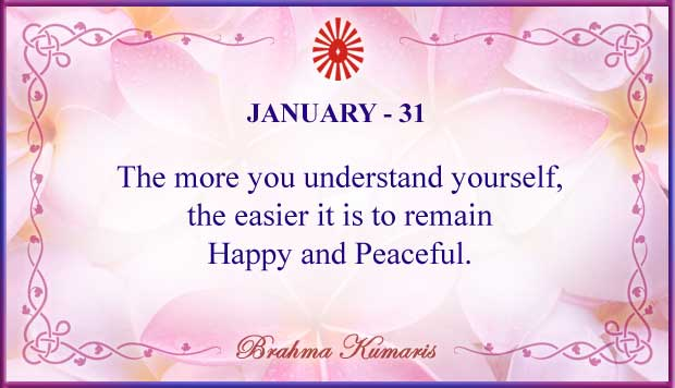 Thought For The Day January 31