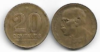 20 centavos, 1953