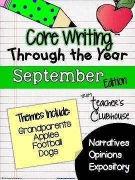 http://www.teacherspayteachers.com/Product/Core-Writing-Through-the-Year-September-1277777
