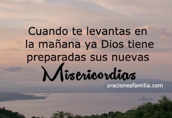 frases de aliento buenos dias nuevas misericordias de Dios