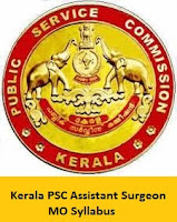 Kerala PSC Assistant Surgeon MO Syllabus