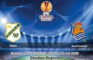 Prediksi Rijeka Vs Real Sociedad 22 Oktober 2020
