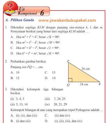 Uji Kompetensi 6 Matematika Kelas 8 Sedang