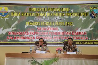 Kapolda Jambi Menghadiri Sarasehan FKPPI Dan Menjadi Narasumber