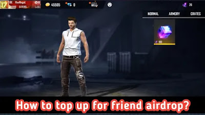 How to top up for friend airdrop in Account