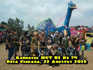 Karnaval HUT Kemerdekaan  RI ke 74 Desa Cindaga