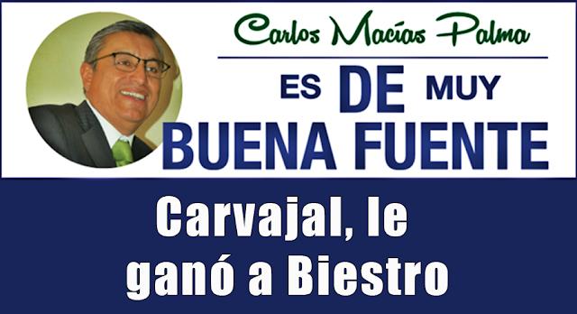 Carvajal, le ganó a Biestro