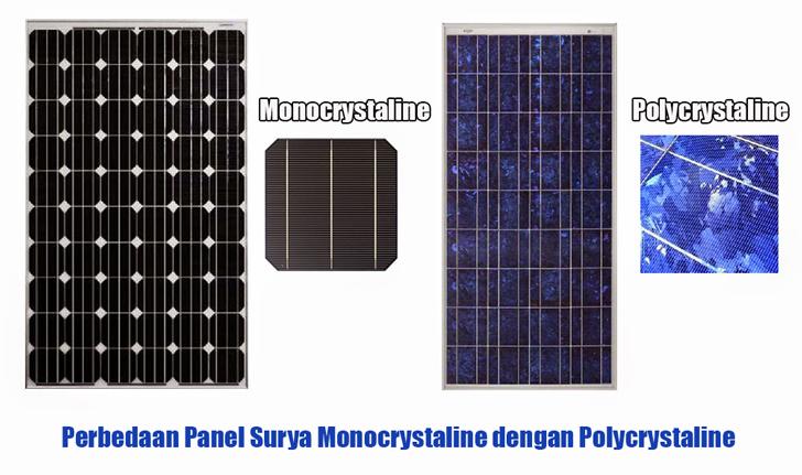 Perbedaan Panel Surya Monocrystaline dengan Polycrystaline