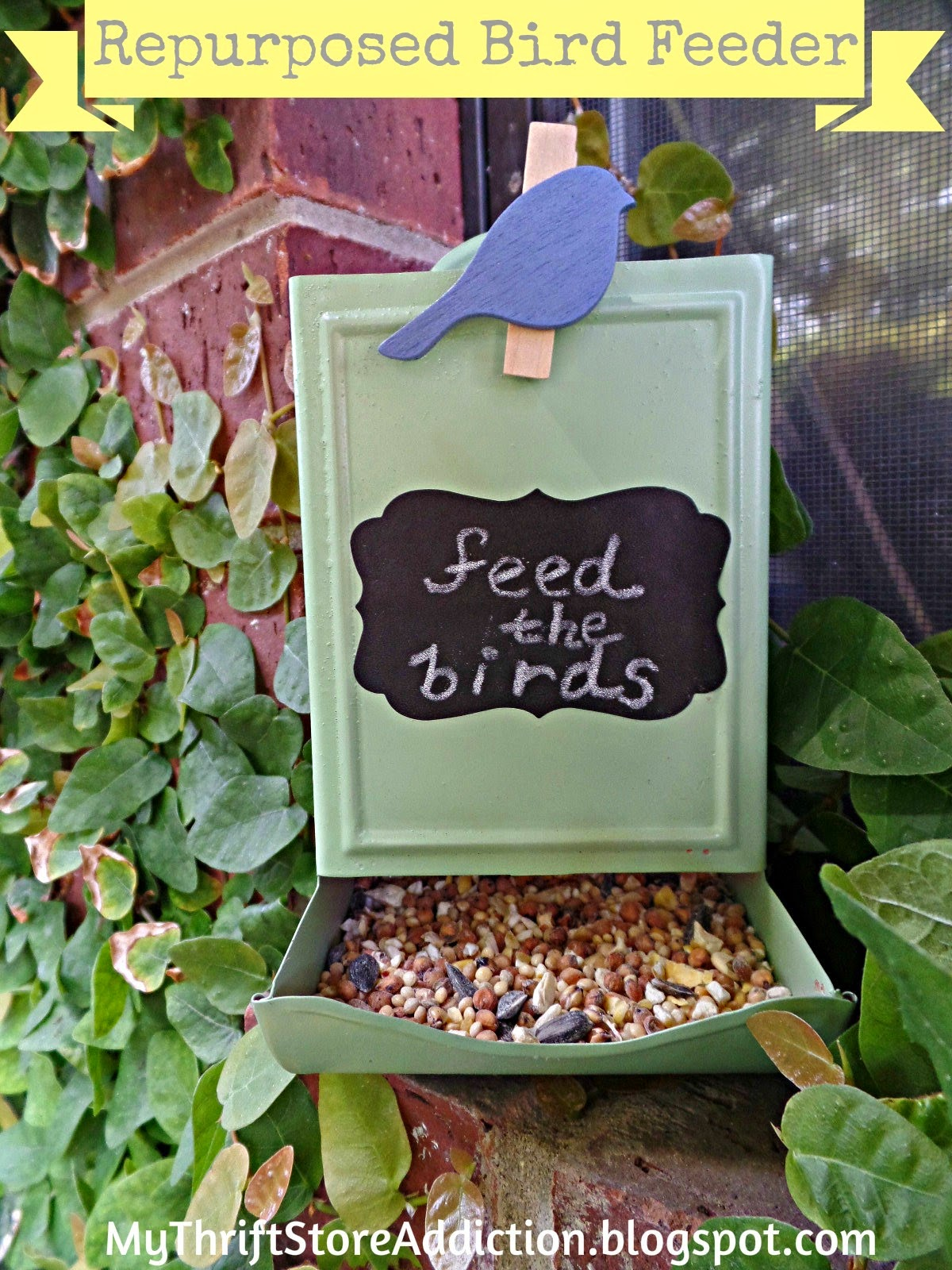 Bird Feeder from Vintage Match Holder