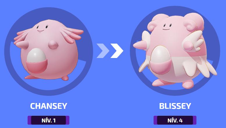 Pokémon Unite - Evolução de Blissey
