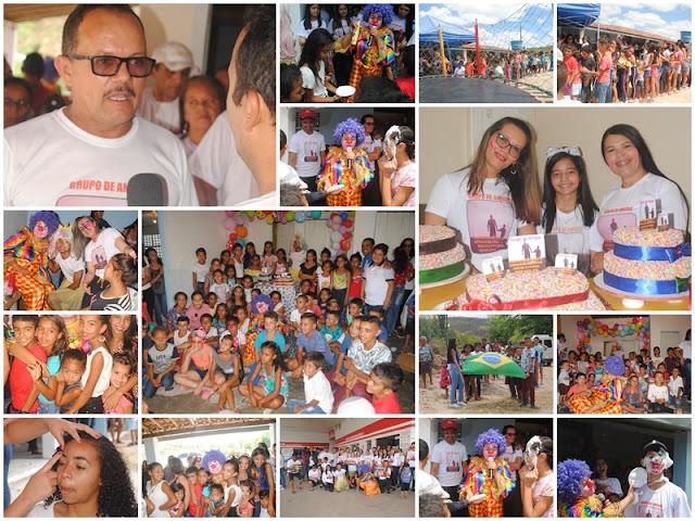 Em Buíque  voluntários promovem grandiosa   festa para comemorar o dia crianças da zona rural em Buíque
