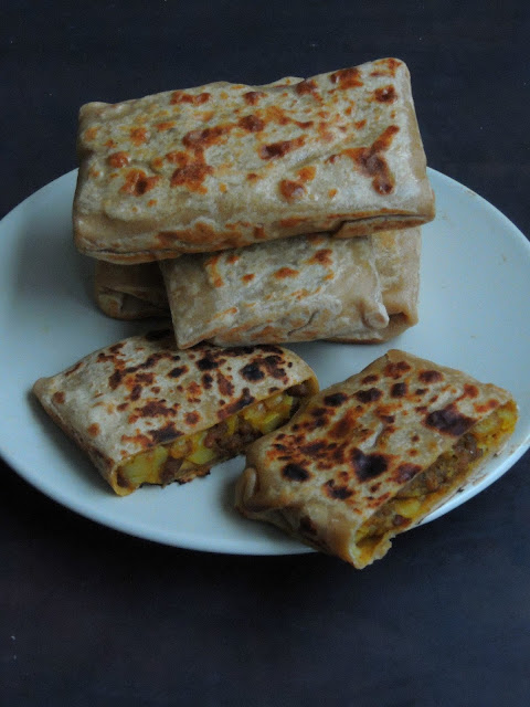 Potato & Minced meat Paratha