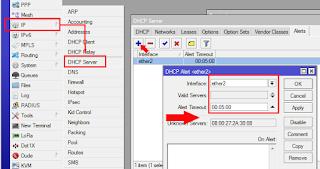 DHCP Alert dengan Winbox
