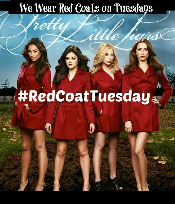 #RedCoatTuesday for Pretty Little Liars using Rimmel London Lippy, pretty little liars, pretty little liars lips, red lips, red lippy, pretty little liars make up