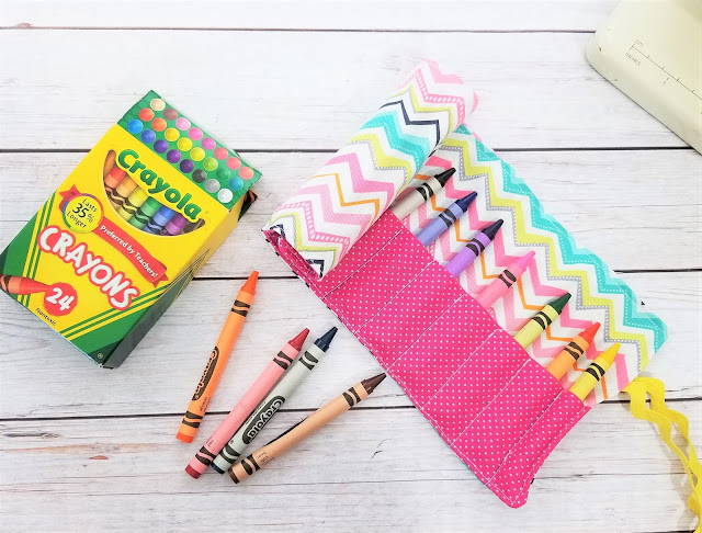 fabric crayon holder