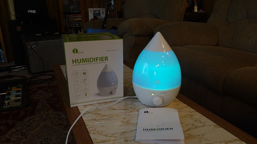 1byone Humidifier Ultrasonic cool mist w. 7 color night lights Give-Away-2 winners (US only) Give-Away Ends 5.01