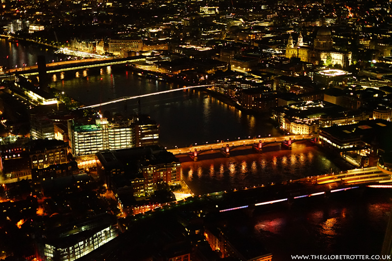 London's Bridges from the View from the Shard