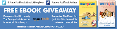 ebook giveaway, kindle giveaway, free ebook, free kindle, Steven Scaffardi, The Drought, The Flood