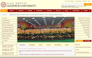 Jadavpur University Recruitment 2019: 12 Professor, Associate Professor, Assistant Professor Posts