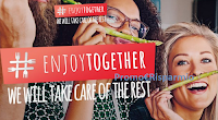 Logo #ENJOYTOGETHER: vinci gratis cena con foodblogger o con GialloZafferano! Anticipazione