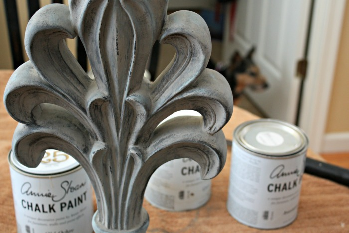 Dry brushing chalk paint