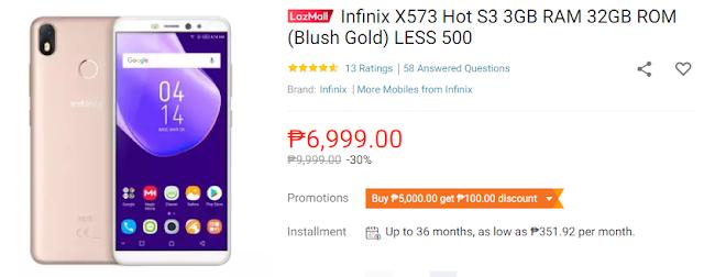 Infinix Hot S3 X573 3GB RAM 32GB ROM - Lazada Junkie
