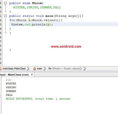 Mengenal Enum di Java dan Pengoperasiannya - Aoi Droid