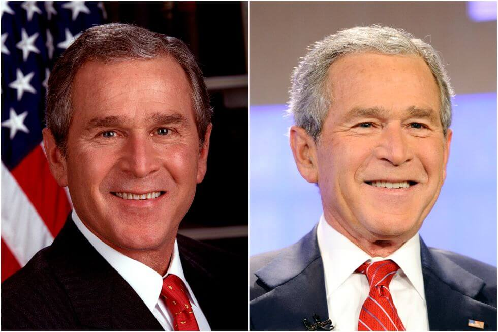 15 Before And After Photos Of US Presidents Depict How Their Job Transformed Them - George W. Bush (2000-2008)