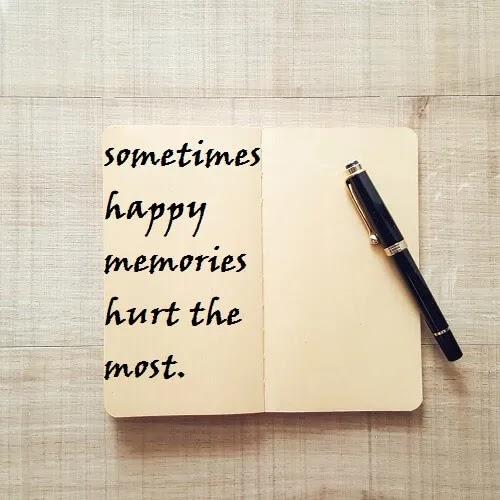 sometimes empty memories hurt the most