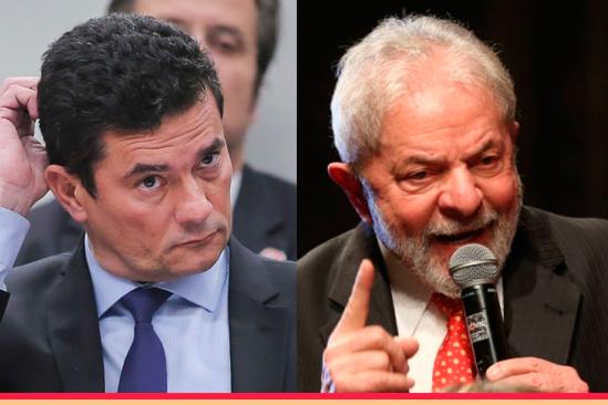 Sergio Moro e Lula. Café com Jornalista