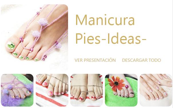 Decorate los Pies.Las uñas de los pies