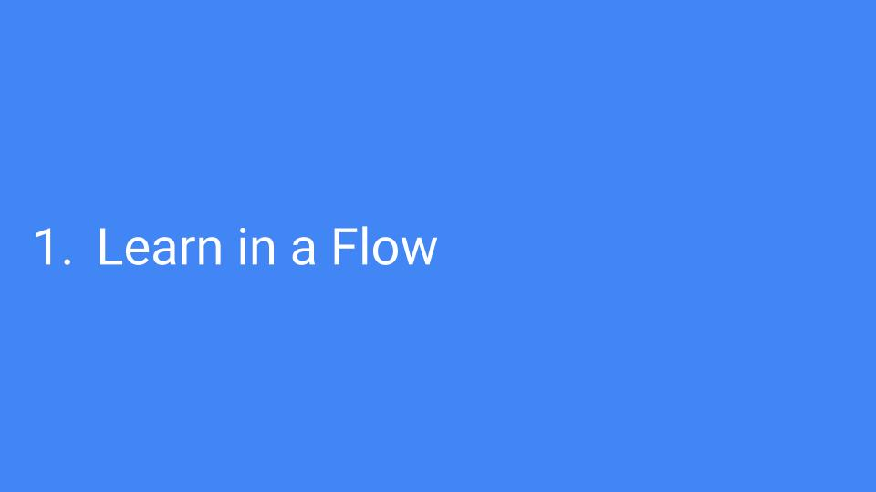 learn with the flow