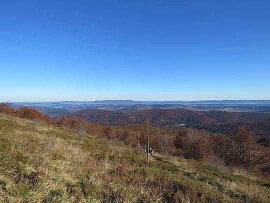 Widok na Góry Sanocko-Turczańskie.