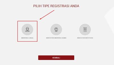 Opsi Pendaftaran Akun AKSes KSEI