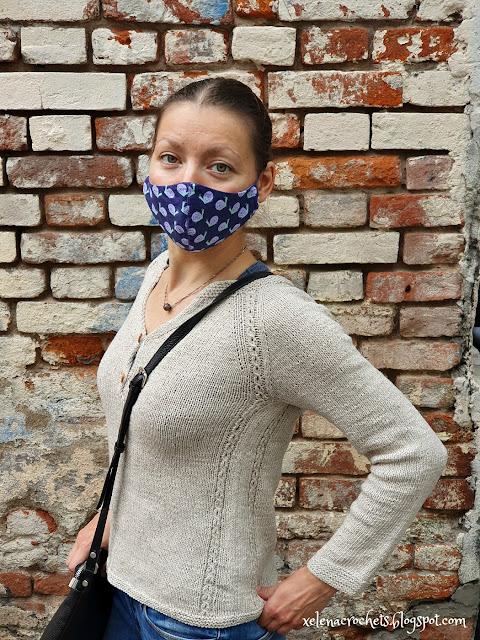 свитер из пряжи Кудельница спицами