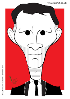 Ryan Giggs Caricature by Ian Davy Brown