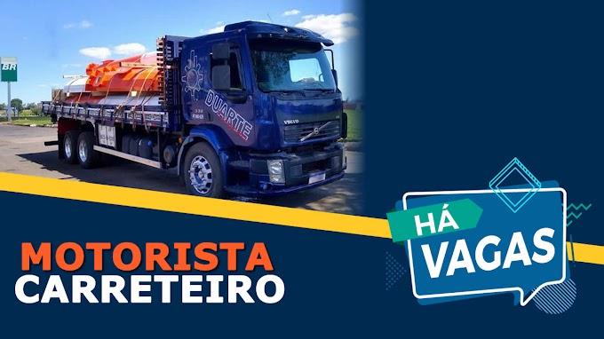 Duarte Transportes abre vagas para Motorista Carreteiro