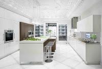 White Floor White Kitchen Design Ideas