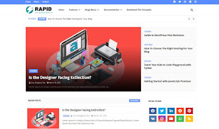 Rapid v1.0 - Reponsive Seo friendly Blogger Template