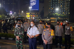 Anies Baswedan, Fadil Imran dan Dudung Abdurachman Inspeksi Malam Takbiran DKI Jakarta