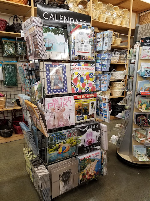 rack full of calendars