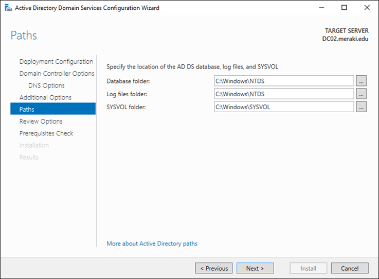 إضافة وحدة تحكم مجال أخرى (DC) على Active Directory